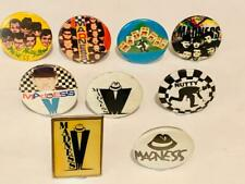 9X VINTAGE SKA MADNESS 70S 80S LAPEL PIN BUTTON BADGES NUTTY V METAL PLASTIC TIN