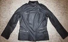 Barbour International FOLCO Biker Jacket in Black - UK Size 12 [3855] Immaculate