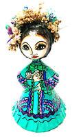 Vtg 1960s Abelardo Ruiz Mexican Folk Art Paper Mache Girl Doll Lady Madonna
