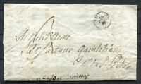 s8251) ITALY Taxed Stampless Letter 10.5.1855 Monte S. Pietro