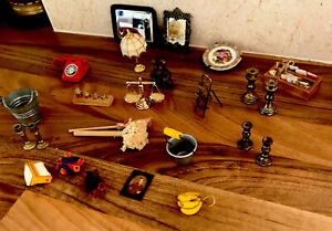 Dolls House Miniature Bundle Everything You See see Pics
