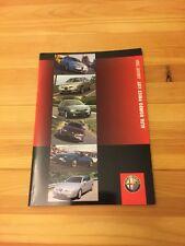 ALFA ROMEO BROCHURE GAMMA AUTO nel Regno Unito listino prezzi 147, 156, 166, GTV, SPIDER, GIULIA GTA 2004