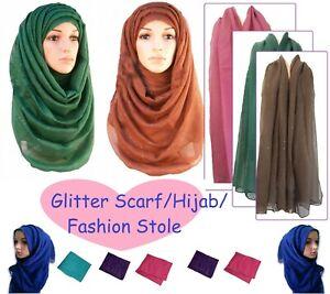 Hijab plain shimmer pattern maxi large SCARF shawl sarong viscose GLITTER*GlTrSc