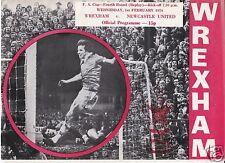WREXHAM  V NEWCASTLE UTD     FA CUP    1/2/78