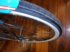 WHITEWALL Balloon bicycle tires 26x2.125 VERY COOL BRICK Tread COLUMBIA SCHWINN