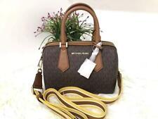Michael Kors 100% Hayes Travel Duffle Bag MK Signature Logo Brown NEW & TAGS
