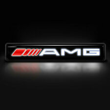 Car Front Grill Sticker LED Emblem AMG GRILL BADGE Gloss Black FOR MERCEDES BENZ