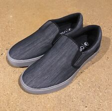 Osiris Jet Set Slip On Size 9 US Black Denim Grey BMX DC Skate Shoes Sneakers