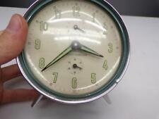 """Vintage """"Seiko Corona""""  Chrome-Plated Peg-Legged Alarm & Desk Clock E215a"""