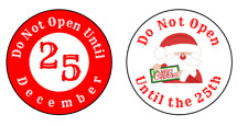 Christmas Do Not Open Until 25th Stickers Labels Tags Father Xmas Date Set of 24