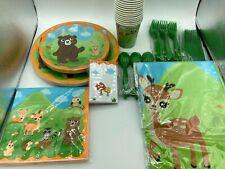 Partyzubehör Set mit Waldtieren für Kinder   16 Gäste  