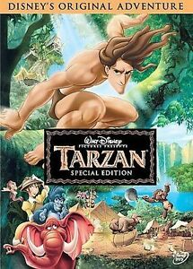 Tarzan SPECIAL EDITION (DVD, 2005) DISNEY MOVIE w/SLEEVE PHIL COLLINS SONG KIDS