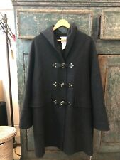 Celine Cashmere Long Coat Grey 40 M Hood Hooded