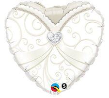 Balón Matrimonio en Mylar Corazón Novia 46cm 03461