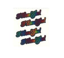 Vintage 80's Sandylion Mylar Foil Sticker - Rainbow I Love You