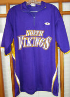 NFL Minnesota Vikings Purple Training Jersey Men's Large 1/4 Zip