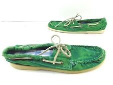 caabc556409 Mens G.H Bass   Co Newport Boat Shoes Green Size Left 8.5   Right 9