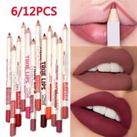 12pcs/Set Waterproof Lipstick Lip Liner Make Up Long Lasting Matte Pencil Pen