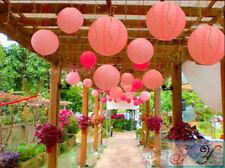 24x pink paper lanterns engagement wedding girls birthday party venue decoration