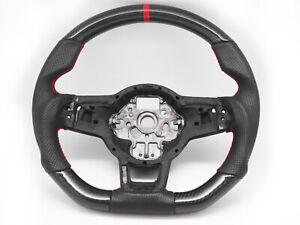 Steering Wheel for 2013–2020 Volkswagen Golf GTI Mk7 Mk7.5-Carbon Fiber Leather