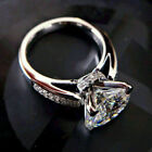3Ct Round Cut Moissanite Solitaire Wedding Engagement Ring 14k White Gold Finish