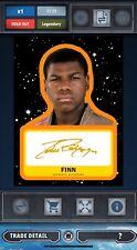 Topps Star Wars Card Trader GOLD Journey John Boyega As Finn Signature 23cc