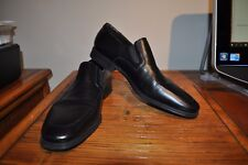 MAGNANNI Mens Dress Shoes Soft Black Leather Casual Slip On Loafers Size 11.5D