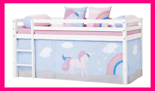 Unicorn Theme Bed Curtains Wire Rope Half-High Girl Bed Game Magic Princess