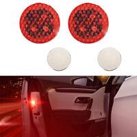 2x Puerta coche universal LED abierto Advertencia luz intermitente Inalámbrico
