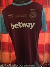 WEST HAM CLARET SKY BLUE LIMITED EDITION LAST GAME AT BOLEYN EMBROIDERED SHIRT