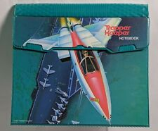 Vintage 1992 Mead Trapper Keeper Fighter Jet Plane Portfolio Binder A-12