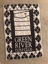 "GOLF TOWEL GREEN RIVER CLUB BLACK& WHITE  23"" x 15""  DISPLAY MODEL  UNUSED"