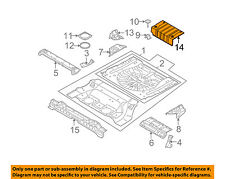 NISSAN OEM 03-07 Murano Floor Pan-Rear-Insulator 74762CA01A