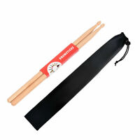 1 Pair 2B Professional Drum Sticks Maple Wood Tip Drumsticks Music Beginners