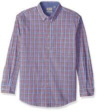 Haggar Men's Long Sleeve Poplin Button-down Shirt with Stretch Size Large