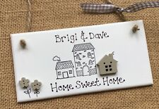 Personalised Home Sweet Home Plaque New House Warming Gift Family Sign Present