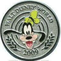 Disney Pin 67589 WDW Character Coins Mystery Goofy Walt Disney World 2009 LE 500