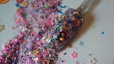 glitter mix acrylic gel nail art       GOTCHA!!