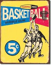 USA Basketball Nostalgie Retro Metall Deko Schild