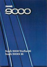 SAAB 9000 5-dr 1987-88 UK Opuscolo Vendite sul mercato i16 Turbo 16