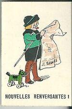 Petit calendrier mini almanach 1929 Illustrateur RG journal Newspaper calendar
