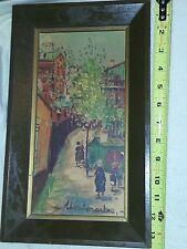 Vintage MAURICE UTRILLO FRAMED LITHOGRAPH MONTMARTRE PRINT ART Framed 11 x 5.5
