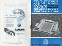 birmingham city v sheffield wednesday . 27-8-1960. programme