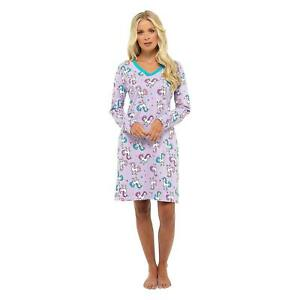 NEW Ladies 100% Cotton 'Foxbury' Unicorn Print Nightdress/Loungewear