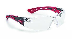 Bolle RUSH+ Safety Glasses - RUSHPPSI - UV Eye Protection - Clear anti fog