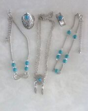Turquoise and Silver Set - 2 Rings and 3 Anklets - Size S/M - New