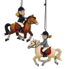 Girl Rider & Horse Ornament