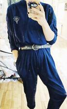 Vintage Blue Jumpsuit 1980 Batwing 10-12