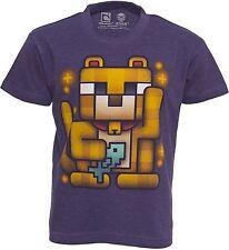 LUCKY OCELOT Mining MINECRAFT Mine Craft Shirt T-Shirt Kids Dan TDM Shirts