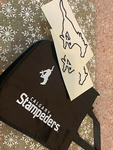 CFL CALGARY STAMPEDERS TOTE BAG & AUTO DECAL